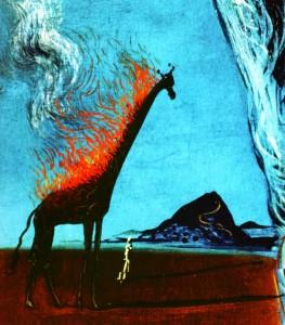 Die brennende giraffe