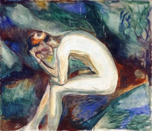 """Naked in the forest"" (1924-25), Edvard Munch"