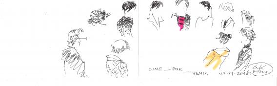Dibujo de Carlos Maiques durante el taller de Sofía Asencio en el Centre del Carme (CCCC)