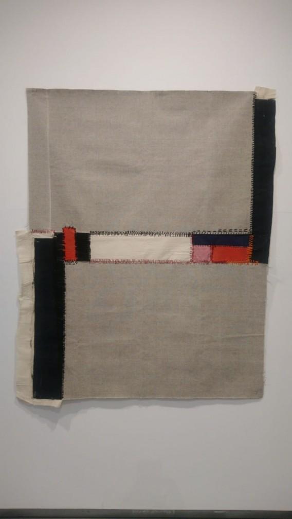 Teresa Lanceta, Sur (2004), de la serie Pinturas cosidas