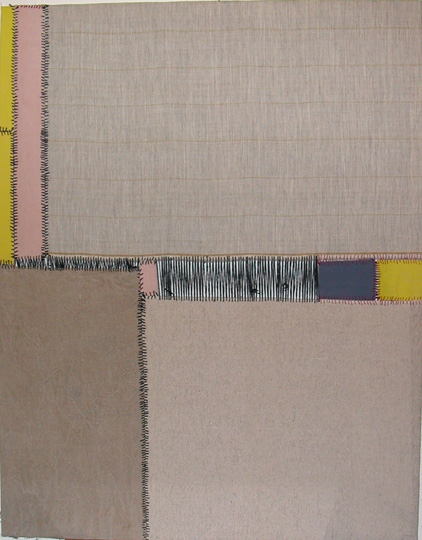 Teresa Lanceta, Sur, de la serie Pinturas Cosidas (2004)