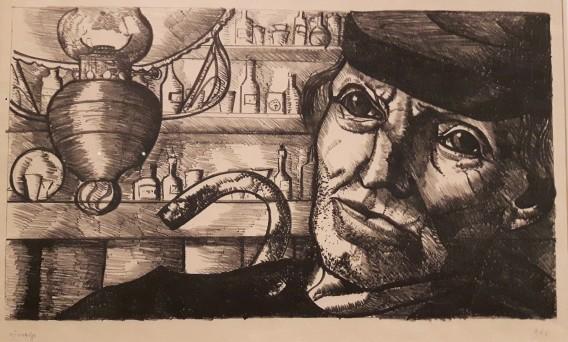 Zeeuwse boer in een bar, 1931
