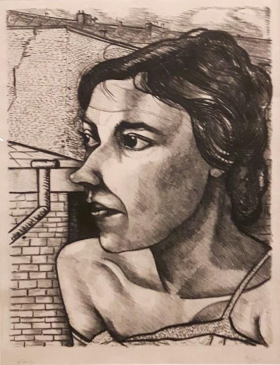 Werkende vrouw in Parijs. 1931