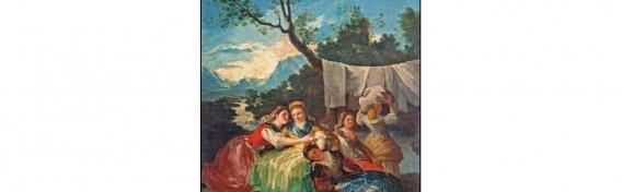Las lavanderas, Goya
